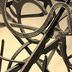 3D metal print structures