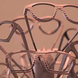 3D titanium printed eyeglasses frames