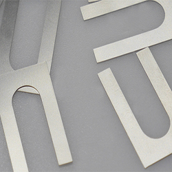 Laser cut stainless steel shims